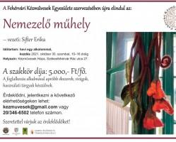 Októberi Nemezelő műhely a Fehérvári Kézművesek házában